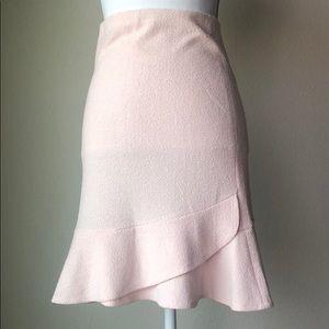 Light Pink Skirt with Ruffle Detail - Super Cute!